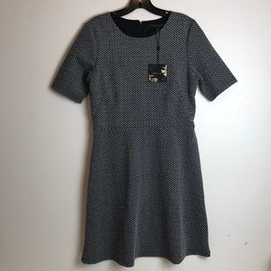 NWT forest Lilly Nordstrom Black white(Gray )dress